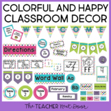 Colorful and Happy Classroom Decor