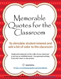 5 Free Classroom Posters with Inspiring, humorous, and thoughtful messages. Fun!