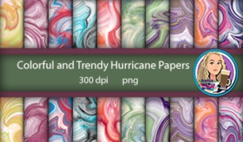 Colorful and Trendy Hurricane Papers