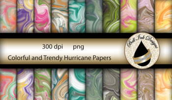 Colorful and Trendy Hurricane Papers Clipart