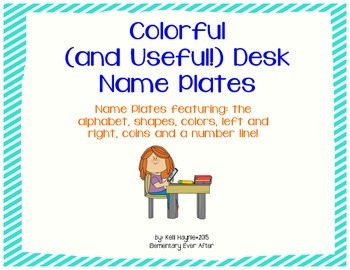 Colorful (and Useful!) Desk Name Plates