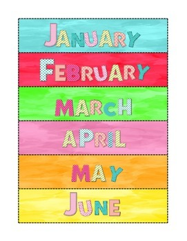 Colorful buntings, labels and notes page.