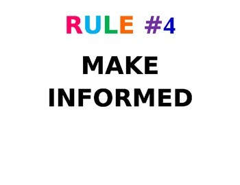 Colorful classroom rules and talking definition