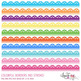 Colorful eyelet digital borders and trims.