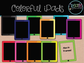 Colorful iPads - Digital Clipart