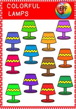 Colorful lamps clipart