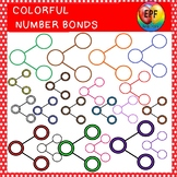 Colorful number bonds clipart