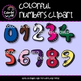 Colorful numbers clipart
