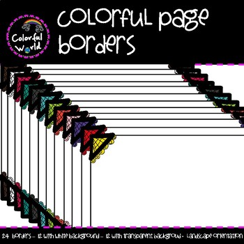 Colorful page borders