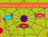 Colorful spiders and webs, for personal and commercial use!