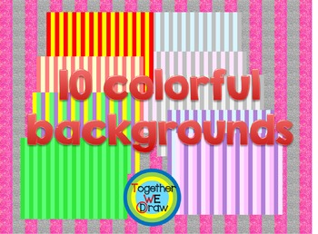 Colorful stripes background paper