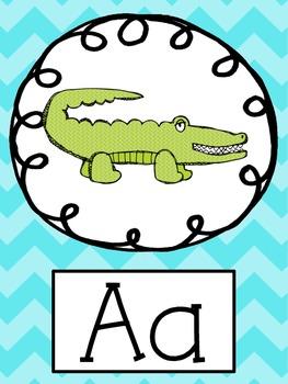 ColorfulChevron Alphabet Posters
