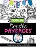 Coloriage-Doodles paysages (landscape drawing doodle )