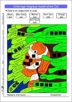 Coloriage Magique Numeration Ce1