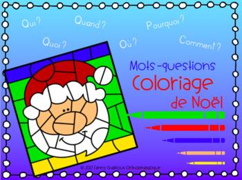 Coloriage de Noël/Mots-questions