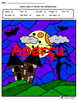 Coloriage magique Halloween