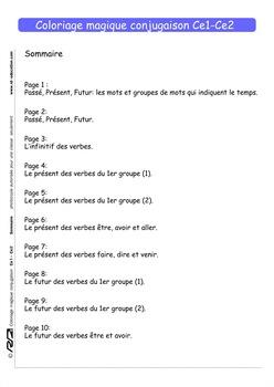 Coloriage Magique Conjugaison Ce1 Ce2 By Rd Education Tpt