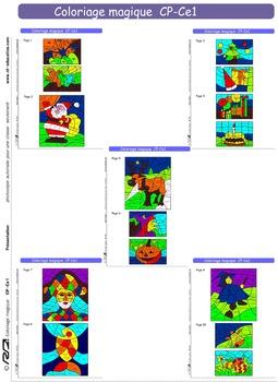 Coloriage Cp Calcul.Coloriage Magique1 Numeration Et Calcul Cp Ce1 By Rd Education Tpt