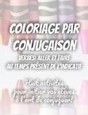 Coloriage par conjugaison - Aller et faire au temps présen