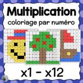 Coloriage par numéro - Multiplication Color By Number FRENCH