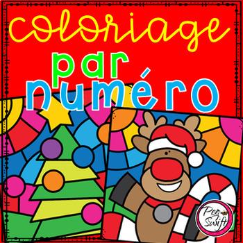 Coloriage par numéro • Noël