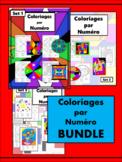 Coloriages par Numéro BUNDLE – French Color by Number Worksheets
