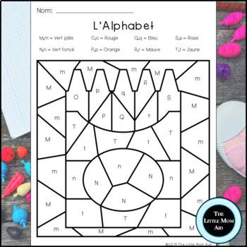 Colorie Par Lettres Retour A L Ecole Coloriages Magiques Alphabet
