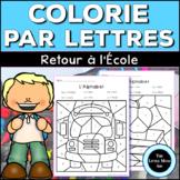 Colorie Par Lettres: Retour À l'École | Coloriages Magique