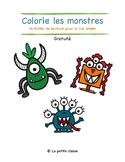 Colorie les monstres