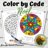 Colorie par Code: French Color by code Noël Christmas themed