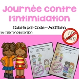 Colorie par code - Journée contre l'intimidation (Addition)