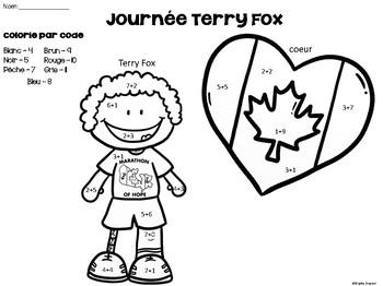 Colorie par code - Terry Fox (Additions)