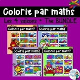 Colorie par maths: Color by Code Seasons Themed Math Activities in French Bundle