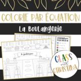 Colorie par équation: La boulangerie - Activité d'algèbre