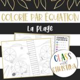 Colorie par équation: La plage - Activité d'algèbre