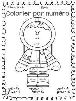 Colorier par numéro (Color by number)