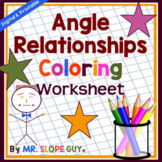 Angle Relationships Coloring Activity Geometry PDF Workshe