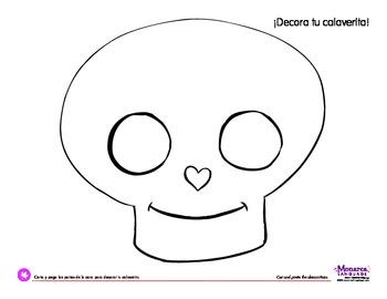 Coloring Activity: Día de los Muertos: Day of the Dead: ¡Decora tu calaverita!