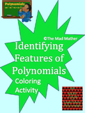 Coloring Activity: Identifying Features of Polynomials (Graphs)