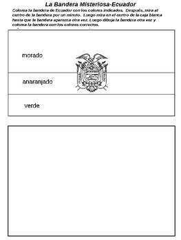 Coloring Activity Mystery Flags of Spanish Speaking Countries