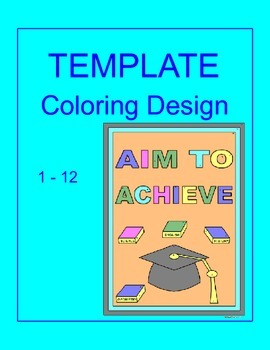 Coloring Activity TEMPLATE (12 problems) Any Subject Personal use only #3