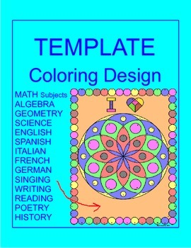 Coloring Activity TEMPLATE - Several Subjects (12 problems) PERSONAL USE ONLY #1