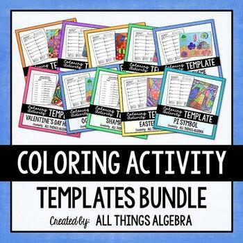 Coloring Activity Templates Bundle
