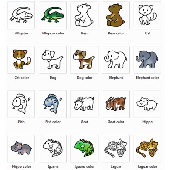 Alphabet Animals Clip Art and Line ArtByChad