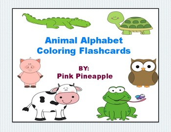 Coloring Alphabet Flashcards