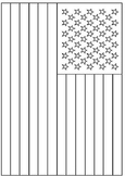 Coloring American Flag