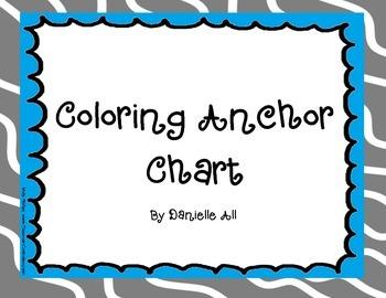 Coloring Anchor Chart