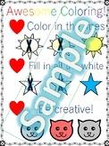 Preschool Coloring Anchor Chart