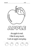 Coloring Apple for Kids : Free Copy!