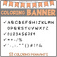 Coloring BANNER - Letters, numbers and more - Bulletin board
